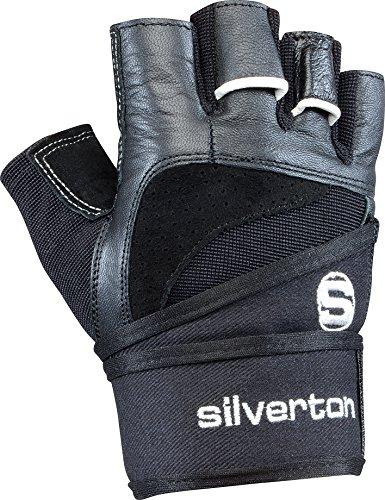 Silverton Fitness-Gewichtheberhandschuh Power, schwarz, L