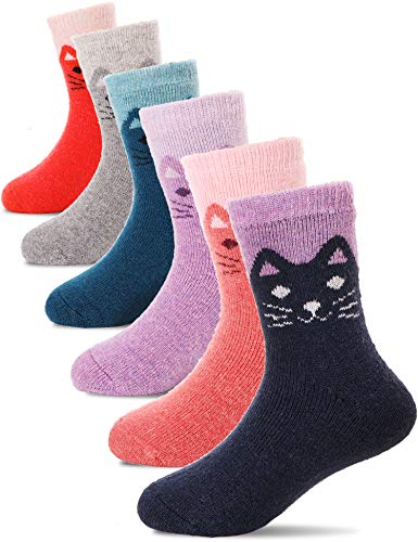 Boys Girls Wool Socks Warm Thermal Thick Cotton Winter Crew Socks For...