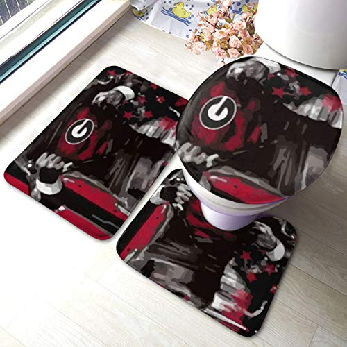 georgia bulldog bathroom mat - 7