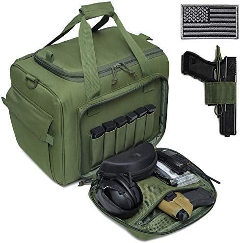 DBTAC Gun Range Bag Large Tactical Pistol Shooting Range Duffle Bag for 4 Handguns Range Trip product image
