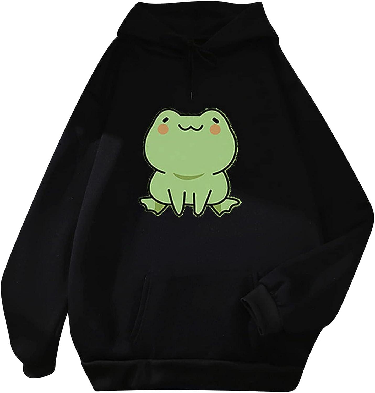 Pocket Tops for Womens Casual Long Sleeve Pullovers Loose Dinosaur Print Hoodies Sweatshirts Lightweight Blouse