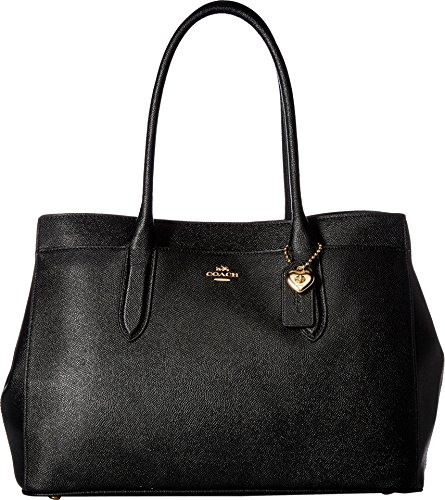 COACH Bailey Carryall in Crossgrain Leather Li/Black One...