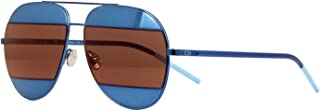 New Christian Dior SPLIT 1 Y4ERD Blue/Brown Aviator Women's Sunglasses