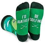 6. Lavley - I'd Rather Be Golfing - Men's Novelty Socks - Fun Dress Socks For Work (Golf)