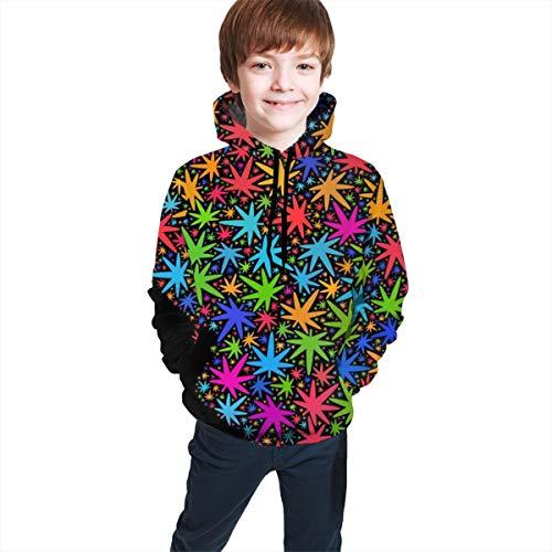 Sweater tee Girls and Boys Bright Vector Marijuana Illinois