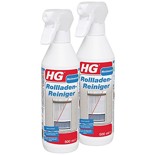 HG Rollladenreiniger 2er Pack (2x 500 ml) – Lässt Rollläden und Rollladenkästen in Neuem Glanz Erstrahlen - Entfernt Mühelos den Hartnäckigsten Schmutz