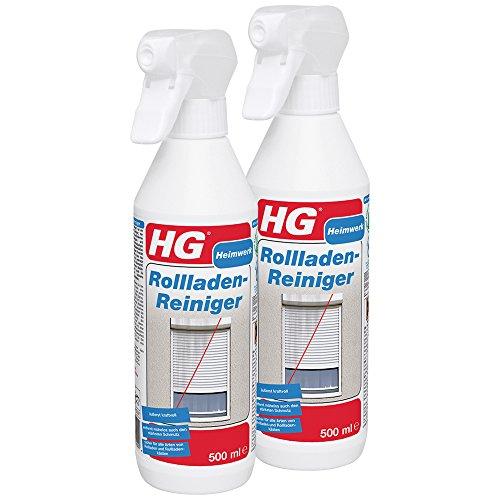 HG Rollladenreiniger, 2er pack (2x 500 ml) – lässt Rollläden und Rollladenkästen in neuem Glanz erstrahlen