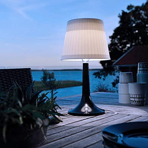 pearlstar Solar-Tischleuchte LED Solar Tischlampe Außen-Tischbeleuchtung Schreibtisch Lampe Nacht Licht Outdoor Dekorativ Tisch Beleuchtung, 2 Beleuchtungsmodi, plastik, Schwarz