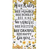 Home Hive House Rules Wall Hanging Sign with Bee Theme Sentiments