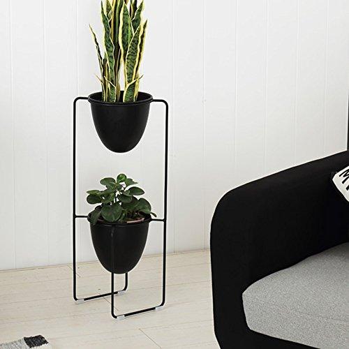 Étagères à Fleurs polyvalentes Fleur Étagère Nordique Creative Décoration Salon Balcon D'intérieur Plante Pot Fer Multicouche Fleur Pot Rack pour intérieur et extérieur (Couleur : Noir)