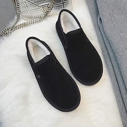 Shukun enkellaarzen paar sneeuwschoenen vrouwelijke korte buis mode student winter warm verdikking een pedaal laag, om katoenen schoenen brood schoenen