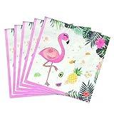 WERNNSAI Flamingo Partyzubehör - 50 STÜCK Wegwerf Party Mittagessen Servietten Hawaiian Luau Tropische Thema Party Rosa Papier Servietten für Baby Shower Geburtstag Hochzeit Schwimmbad Tee Party