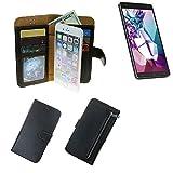 K-S-Trade® Schutzhüll Für Medion Life X6001 Schutz Hülle Portemonnaie Case Phone Cover Slim Klapphülle Handytasche E Handyhülle Schwarz Aus Kunstleder (1 STK)