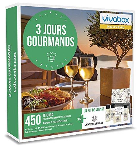 Vivabox - Coffret cadeau couple - 3 JOURS GOURMANDS- 450 week-ends gourmands + 1 kit de voyage