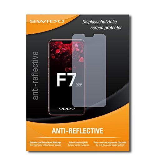 SWIDO Schutzfolie für Oppo F7 [2 Stück] Anti-Reflex MATT Entspiegelnd, Hoher Festigkeitgrad, Schutz vor Kratzer/Bildschirmschutz, Bildschirmschutzfolie, Panzerglas-Folie