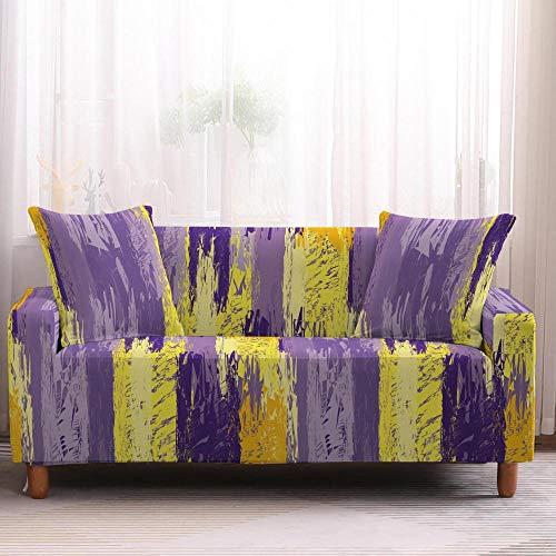 Funda de sofá geométrica para sofá, funda elástica para sillón, funda de sofá, protector de muebles, 1/2/3/4 plazas, 3 plazas, color 4