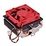 AMD Socket FM2 FM1 AM3 AM2 1207 940 939 754 4-Pin Connector CPU Cooler with Aluminum Heatsink & 2.75-Inch Fan with Pre-Applied Thermal Paste for Desktop PC Computer