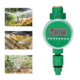 Bearbro Minuterie D'Arrosage,3/4″ 19mm Automatique Minuterie électronique,Numérique Minuterie D'arrosage,avec écran LCD,pour l'herbe des Plantes Fleurs de Serre Jardin