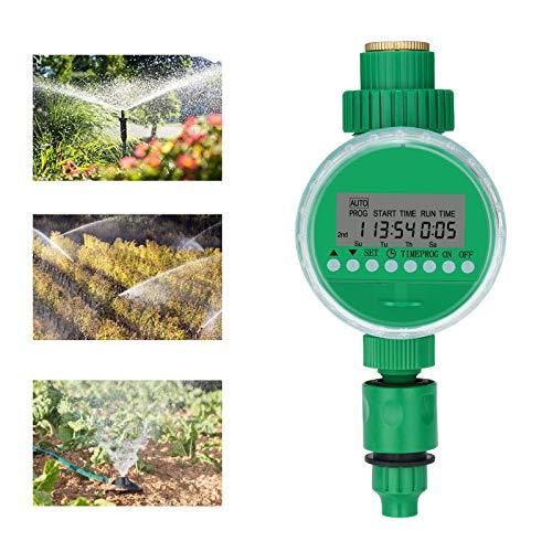 Bearbro Controlador de Riego,Temporizador de Riego,Temporizador de Riego Automatico,Emporizador Electrónico de Agua,con Pantalla LCD,para Jardín Hierba Planta de Invernadero
