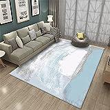Blanco Gris marrón combinación Arte Abstracto impresión de Alta definición Pasillo Duradero decoración del hogar Alfombra-Los 50x80cm Alfombra de salón con Estampado de Polipropileno