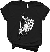 Jimi Hendrix Playing Guitarist Shirt Design Shirts Soft Women Unique Tees Unique T-Shirts Cheap Design