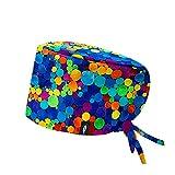 ROBIN HAT - Cuffie da sala Operatoria INTESIVE BUBBLES - CAPELLI LUNGHI - 100% cotone (Autoclave) - Massima comodità