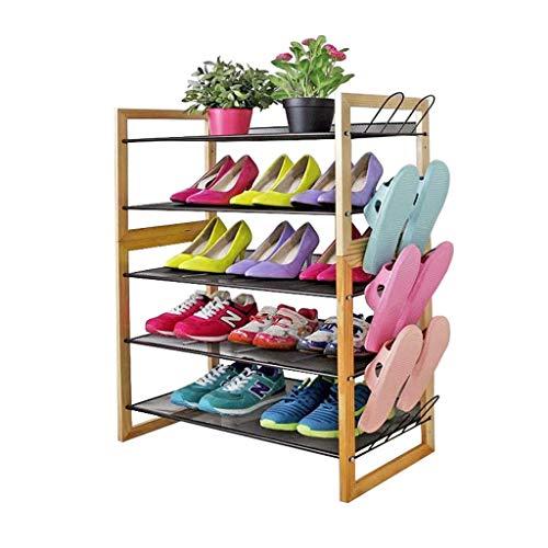 LLLKKK Zapatero simple de varias capas, económico, montaje de muebles, madera maciza, resistente al polvo, para dormitorio, almacenamiento de zapatos