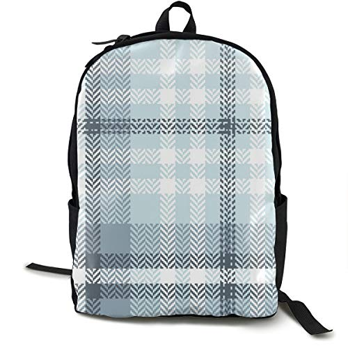 Osmykqe Plaid Pattern Seamless Vector Graphic Blue Hiking