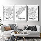 RZHSS Spanien Stadtplan Barcelona Madrid Malaga Sevilla