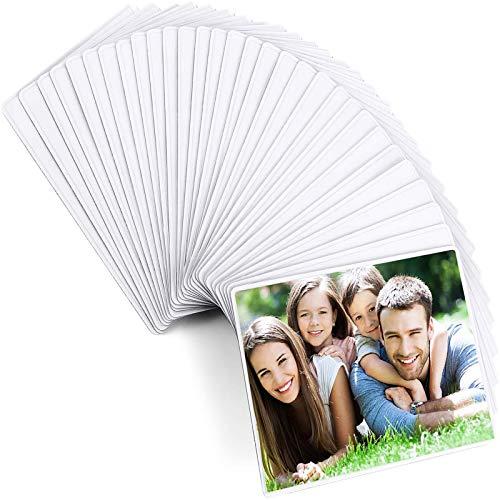 Magnetische Fototaschen, Magiclfy 30 Stück Magnetische Bilderrahmen Fotorahmen Selbst Gestalten zum Aufhängen für Fotos Postkarten von 10 x 15 cm Bildertaschen für Kühlschrank, Weiß