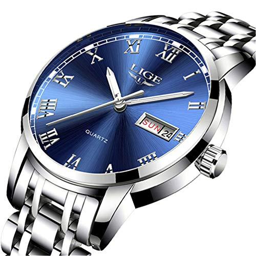 Herren Uhr LIGE Wasserdicht Edelstahl Analog-Quarz Uhr-männer Business Date Armbanduhr …