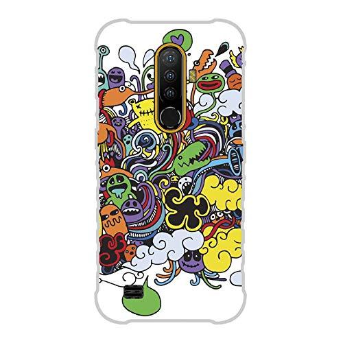 Todo Phone Store Funda Carcasa Personalizada Diseño Impresion UV LED Silicona Dibujo TPU Gel [Comics 011] para ULEFONE Armor X8 4G