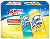 Lysol 89949 Cleaning Wipes, 480 Count, 6