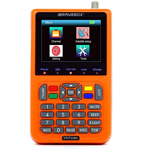 Sat Finde Digital Satellite Finder mit 3,5 Zoll LCD Digitalanzeige EU Version (Deutsche Bedienungsanleitung) (Orange)