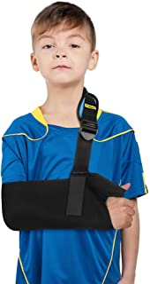 Arm Sling for Kids, Lightweight Medical Arm Sling with Thumb Loop and Shoulder Pad, Shoulder Immobilizer for Children Under 60 LBS, Arm Support for Broken Arm, Wrist, Elbow, Shoulder Injury