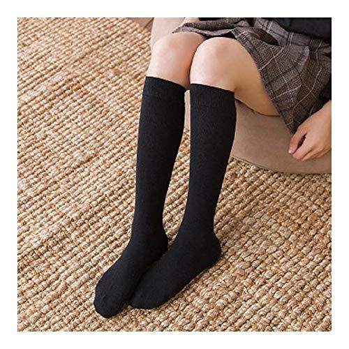 YUNGYE Calcetines de Mujer Calcetines Calcetines Largos hasta la Rodilla Medias largas de algodón Medias sexys Medias (Color : D Black Short)