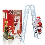 Santa Claus Climbing Ladder Singing Jingle Bells Electric Toy Christmas Decoration Kids Gift Doll