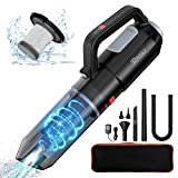RAGU Handheld Vacuum Cordless 7Kpa, Portable Vacuum Cleaner with Blow Function and Powerful Suction, 2500mAh Rechargeable Battery, Wet Dry Mini Car Vacuum Cleaner for Pet Hair, Carpet, Home