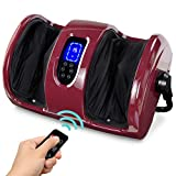 Best Choice Products Foot Massager Machine Shiatsu Leg Massager, Therapeutic Reflexology Calf Massager w/Blood Circulation, Nerve Pain, Deep Kneading, High-Intensity Rollers - Burgundy