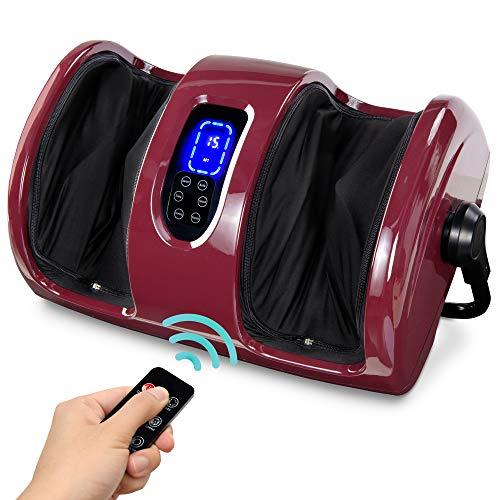 Best Choice Products Foot Massager Machine Shiatsu Leg Massager, Therapeutic Reflexology Calf Massager w/ Blood Circulation, Nerve Pain, Deep Kneading, High-Intensity Rollers - Burgundy