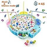 Jeu de Pêche Jeux de Société Enfant Pêche à la Ligne avec Musique Réglable Jouets éducatifs 3 4 5 6 Ans