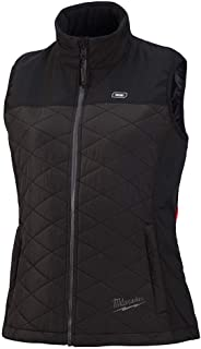 Milwaukee M12 Heated AXIS Vest Lithium-Ion Front and Back Heat Zones - Black (Large, Womens Vest Only)