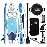 AQUA SPIRIT SUP Aufblasbare Boards für Stand-Up Paddling Paddel Board Set Mit verstellbarem Paddle, Tragetasche und Sicherungsleine, 300x80x12.5cm