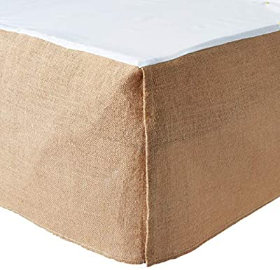 Greenland Home Burlap Bed Skirt, Natural, Queen by Greenland Home Fashions