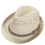 Demarkt Sombrero de Paja para Niños Bebé Visera Jazz Gorra de Pescador de Algodón Hat Flat Cap Sombrero de Sol Al Aire Libre Primavera Verano 1PCS
