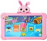 7 Kids Tablet,Android Tablet for Kids WiFi Toddler Tablet 1G+16GB Quad Core Kids Tablets with Bluetooth Camera Support Google Play Store Netflix YouTube Parental Control Kids Learning Tablet (Pink)