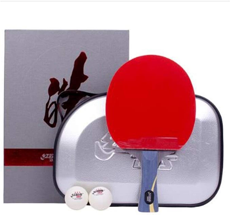 Tongboshi Wang Hao Table Tennis Bat, Horizontal Shot, Arrogant DoubleSided AntiAdhesive, Gift Set Sports and Fitness