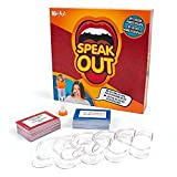 The Speak Out game brings friends and family together for laugh-out-loud fun as players try to say different phrases while wearing a mouthpiece that won't let them shut their mouth In the Speakout party game, players draw from the deck and read the p...