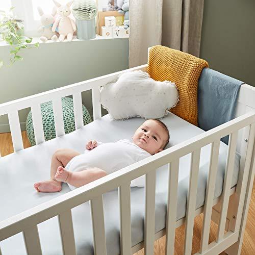P'tit Lit - Cojín antireflujo para bebe 70x35 cm - Para cama de 70x140 cm - Limita el reflujo - Anti-ácaros - Inclinación de 15° - Funda extraíble