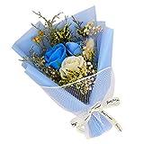 Meilily Romantik Blumenstrauß Rose Seife Blume mit Geschenkbox Geschenktüte/Künstliche Bouquets...